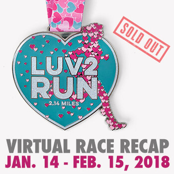 Virtual Race - Luv 2 Run 2.14 Miles (2018)
