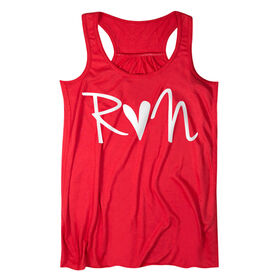 Flowy Racerback Tank Top - Run Heart