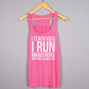 Flowy Racerback Tank Top - I Teach Kids I Run Marathons
