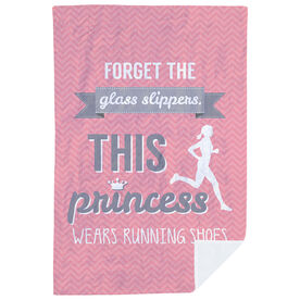 Running Premium Blanket - Forget The Glass Slippers This Princess Wears Running Shoes