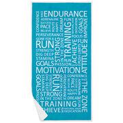 Running Premium Beach Towel - Motivation