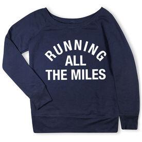 Running Fleece Wide Neck Sweatshirt - Running All The Miles