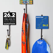 Running Medal Hook - Boston Map