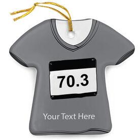 Triathlon Porcelain Ornament 70.3 Shirt