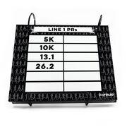 BibFOLIO® Race Bib Album - Dry Erase My PRs Marathon Silhouette