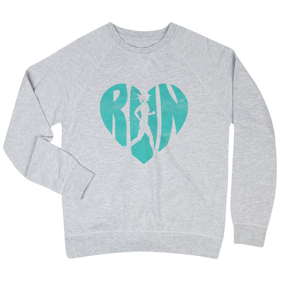 Running Raglan Crew Neck Sweatshirt - Love The Run