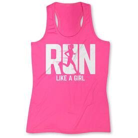 Women's Performance Tank Top - Run Like A Girl