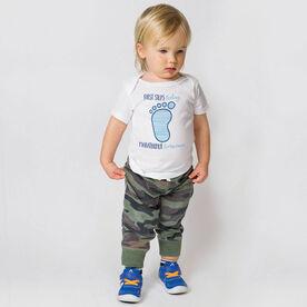 Running Baby T-Shirt - First Steps Today, Marathoner Tomorrow