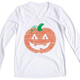 Women's Running Long Sleeve Tech Tee PR Pumpkin