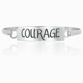 Running Engraved Clasp Bracelet InspireCOURAGE