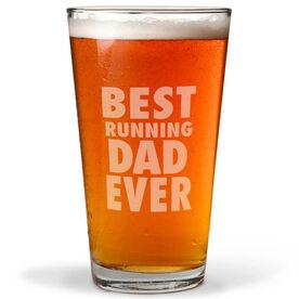16 oz. Beer Pint Glass Best Running Dad Ever