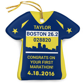 Running Porcelain Ornament Boston 26.2 Shirt Ornament