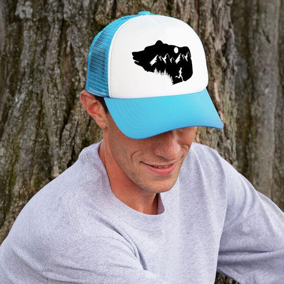 Running Trucker Hat - Bear Mountain Male Runner