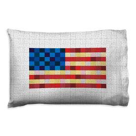 Running Pillowcase - Squares Flag