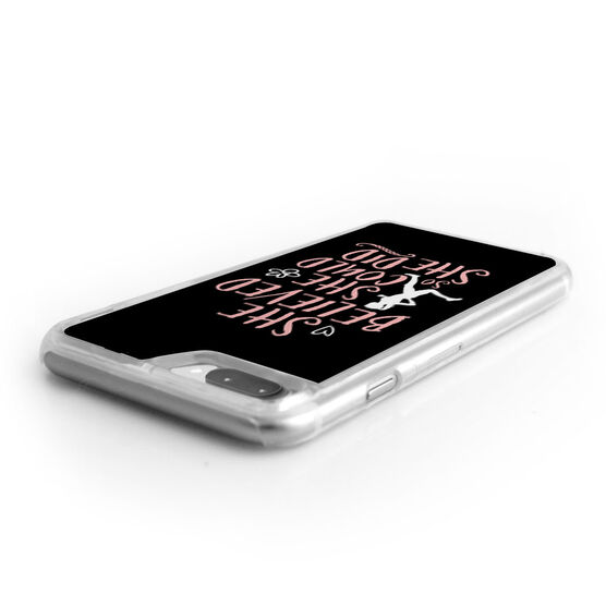 Running iPhone® Case - She Believed She Could (Sketch)