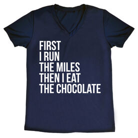 Women's Running Short Sleeve Tech Tee - Then I Eat The Chocolate