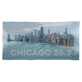 Running Beach Towel - Chicago Sketch
