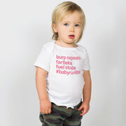Running Baby T-Shirt - Burp Repeats Fartleks Fuel Stops