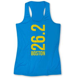 Women's Performance Tank Top - Boston 26.2 Vertical