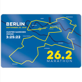 "Running 18"" X 12"" Wall Art - Personalized Berlin Map"