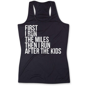 Women's Performance Tank Top - Then I Run After The Kids