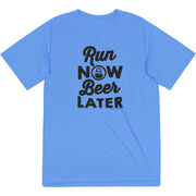 Men's Running Short Sleeve Tech Tee - Run Club Run Now Beer Later