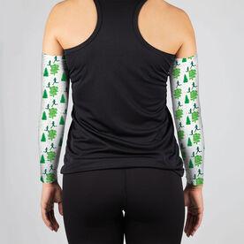 Running Printed Arm Sleeves - Run Through The Trees