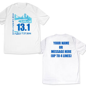Men's Running Customized Short Sleeve Tech Tee San Francisco Skyline 13.1
