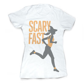 Vintage Running Fitted T-Shirt - Scary Fast