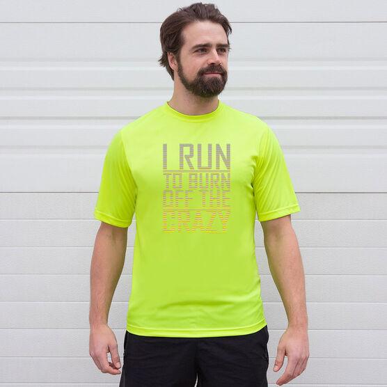 Men's Running Short Sleeve Tech Tee - I Run To Burn Off The Crazy