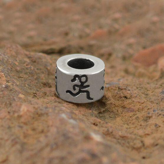 Sterling Silver Runner Girl Large Hole Bead
