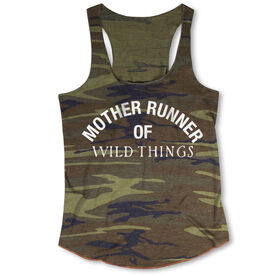 Running Camouflage Racerback Tank Top - Mother Runner of Wild Things