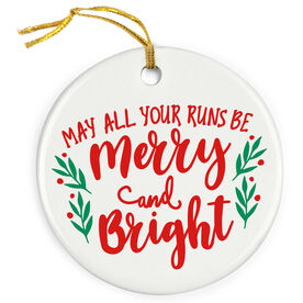 Running Porcelain Ornament - May All Your Runs Be Merry And Bright