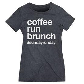 Women's Everyday Runners Tee - Coffee Run Brunch
