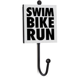 Triathlon Medal Hook - Swim Bike Run Stacked