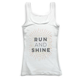 Running Vintage Fitted Tank Top - Run and Shine