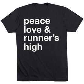 Running Short Sleeve T-Shirt - Peace Love & Runner's High