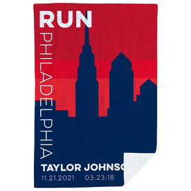 Running Premium Blanket - Personalized Run Philadelphia