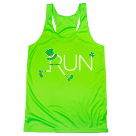 Women's Racerback Performance Tank Top - Let's Run Lucky
