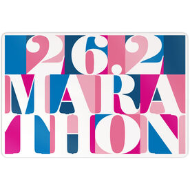 "Running 18"" X 12"" Wall Art - 26.2 Marathon Mosaic"