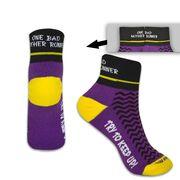 Woven Yakety Yak! Running Socks - One Bad Mother Runner