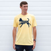 Running Short Sleeve T-Shirt - I'd Rather Be Running with My Dog