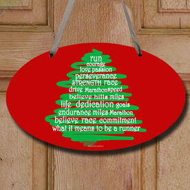 Runner Christmas Tree Decorative Oval Sign