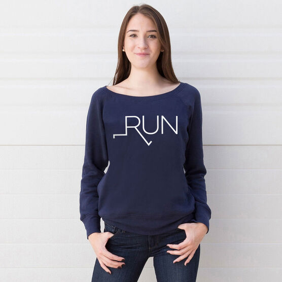 Running Fleece Wide Neck Sweatshirt - Let's Run