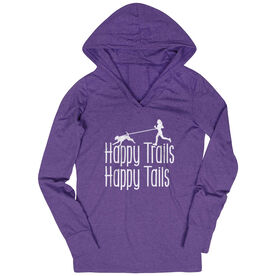 Women's Running Lightweight Performance Hoodie - Happy Trails Happy Tails