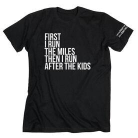 Running Short Sleeve T-Shirt - Then I Run After The Kids MRTT