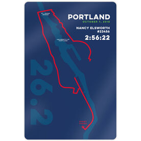 "Running 18"" X 12"" Aluminum Room Sign - Portland 26.2 Route"