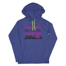 Women's Running Lightweight Hoodie - I Traded Sex in the City for Running in the Suburbs