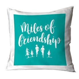 Running Throw Pillow - Miles Of Friendship