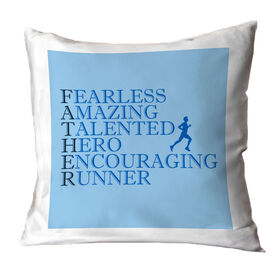 Running Throw Pillow - Father Words